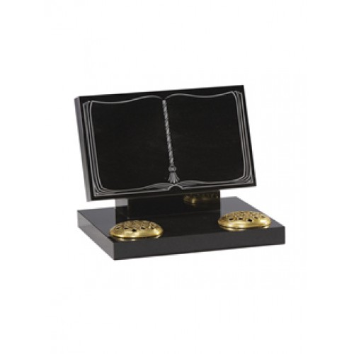 EC135 Black Granite tablet, rest and base.  A simple elegant and economic mock bookset with wide rest for extra safety.
