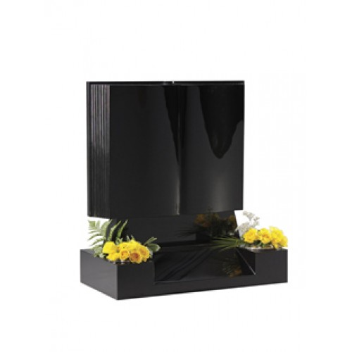 EC136 Exclusive Black Granite Book incorporating an upstand for stability and centre splay base.