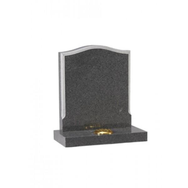 EC14 Dark Grey Granite Memorial with contrasting moulded edge