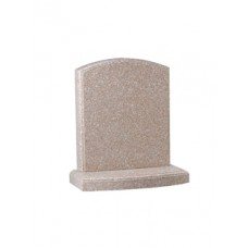 EC15 Xiamen Pink Granite Memorial with fully polished moulding on headstone and base