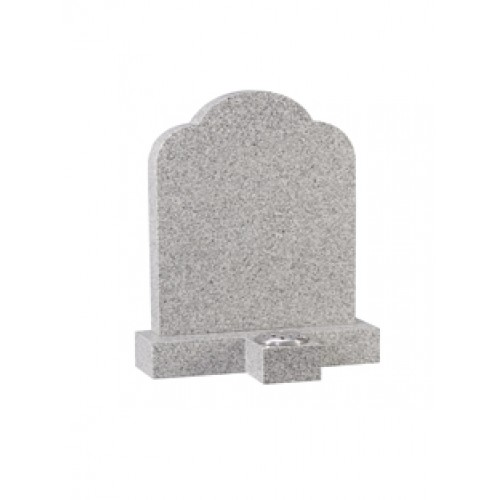EC177 Surf Grey Granite headstone with a separate vase to provide an optional place for flowers.