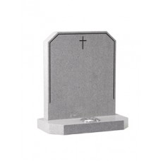 EC178 Abbey Grey Granite headstone.  A fine, light grey granite which provides a perfect contrast to the dark highlighted pin line.