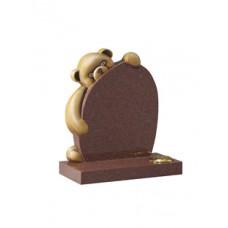 EC220 Imperial Red Granite Childrens Teddy Bear Memorial