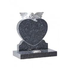 EC221 Blue Pearl Granite Angel Heart Memorial