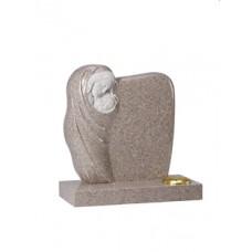 EC222 Carnation Granite Carved Madonna and Child Memorial