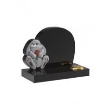 EC228 Black Granite Childrens Toy Rabbit Memorial