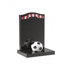 EC231 Black Granite Football Fan Memorial