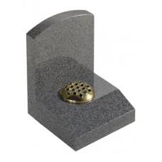 EC249 Dark Grey Granite Headstone and Desk Memorial