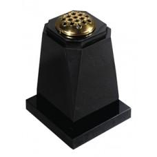 EC272 Shaped Black Granite Vase