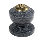 EC280 Dark Grey Granite Round Vase