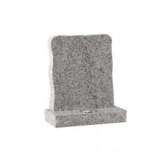 EC61 Light Grey Granite traditional boulder style memorial with rustic edges.