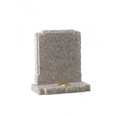 EC64 Light Brown Granite with check shaped shoulders and rustic edges.